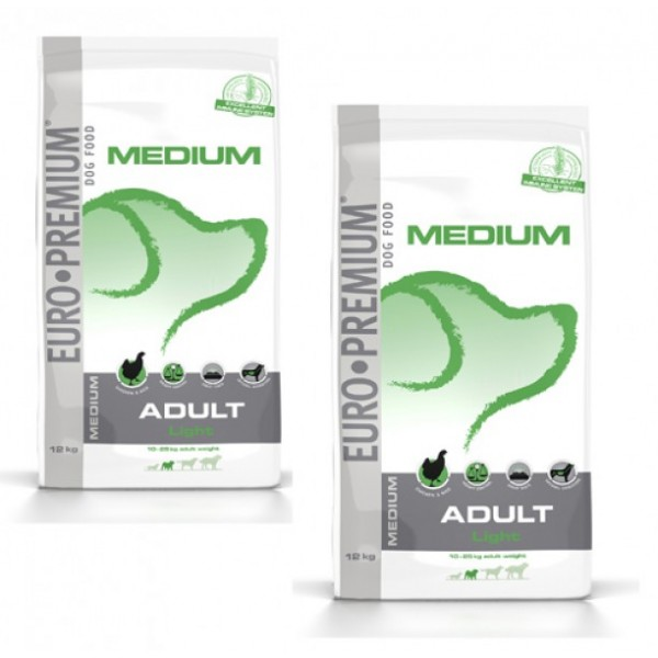 2 X Euro Premium Adult Light 12 kg