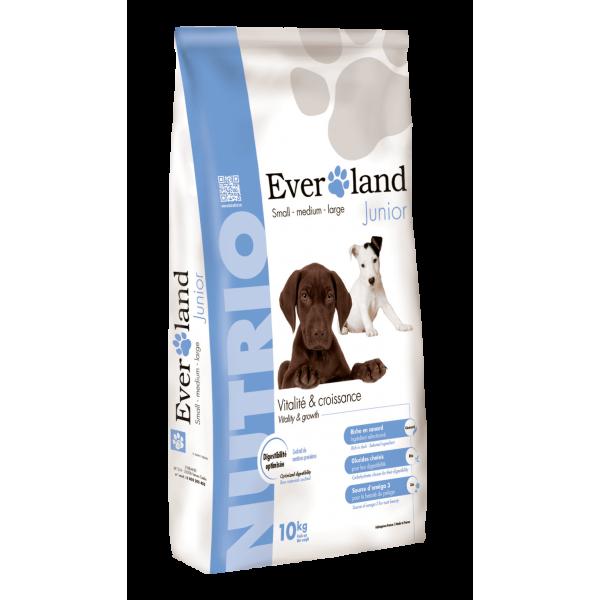 Hrana uscata pentru caini, Everland Nutrio Dog Junior, toate taliile, 10 kg