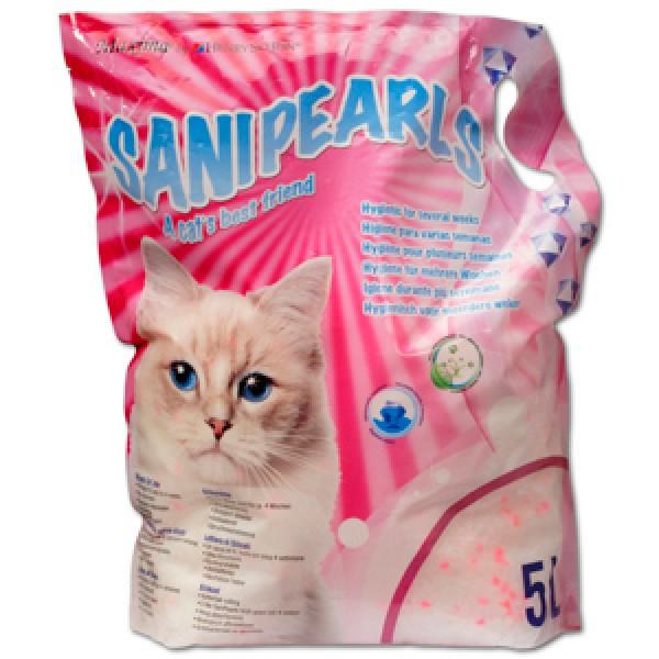 Asternut igienic din silicat, Maxima SaniPearls, perle roz, 5 L