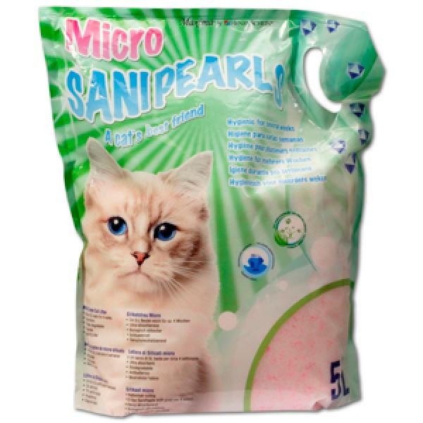 Asternut igienic din microsilicat, Maxima SaniPearls Micro, perle roz, 5 L