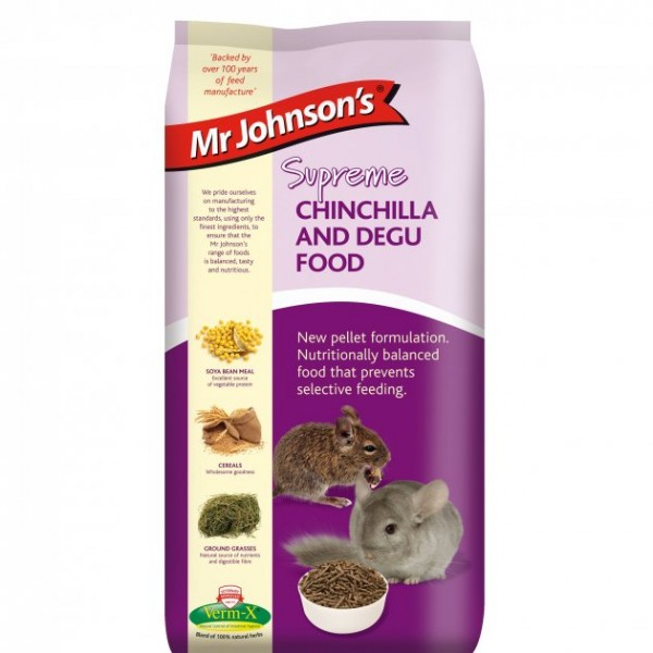 Mr Johnson's Supreme CHINCHILLA  & DEGU PELLETS 900gr
