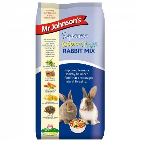 Mr Johnson's Supreme Tropical Fruit RABBIT MIX 15kg