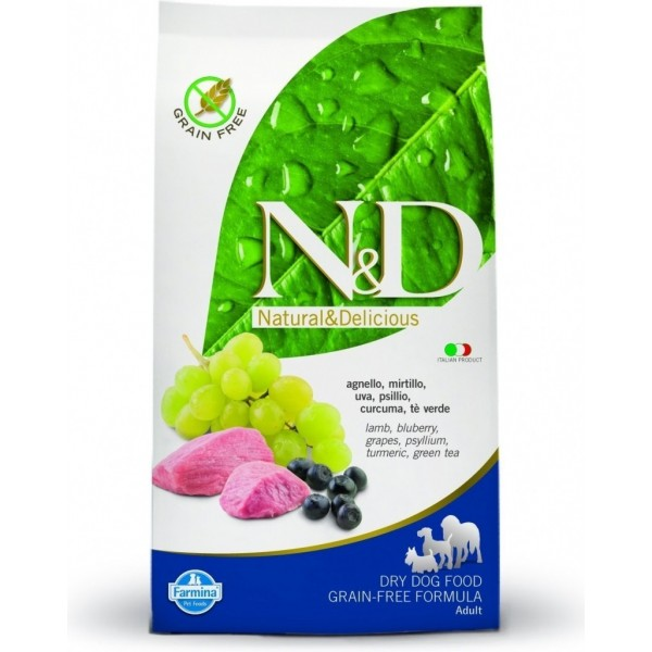 N&D Grain Free Adult Dog Miel si Afine 7 kg + recompensa Prime Hide Chicken Chips 100gr