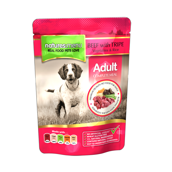Natures Menu Dog Adult Beef 300 gr.