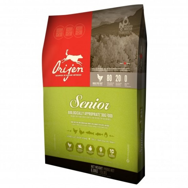 Orijen Senior 11.4 kg + recompense Tail Swingers 100 g