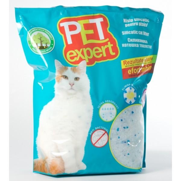 Nisip litiera pisici, Pet Expert, Silicat, 3.8 L
