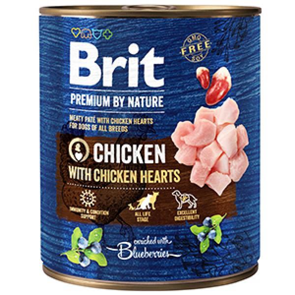 Brit Premium by Nature Chicken with Hearts 800 g conserva