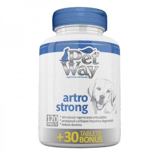 Supliment nutritiv pentru caini PetWay Artro Strong, 120 tablete + 30 bonus