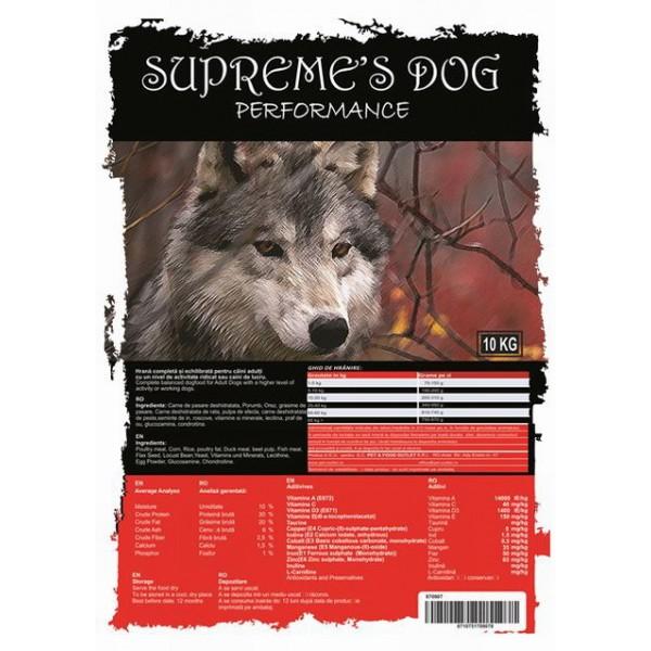 SUPREME'S PREMIUM ADULT PERFORMANCE 10 kg +  CADOU CONSERVA BTG CLASSIC 1240 gr
