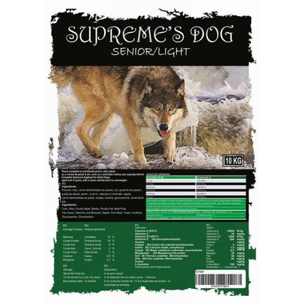 SUPREME'S PREMIUM ADULT SENIOR/LIGHT 10 kg +  CADOU CONSERVA BTG CLASSIC 1240 gr