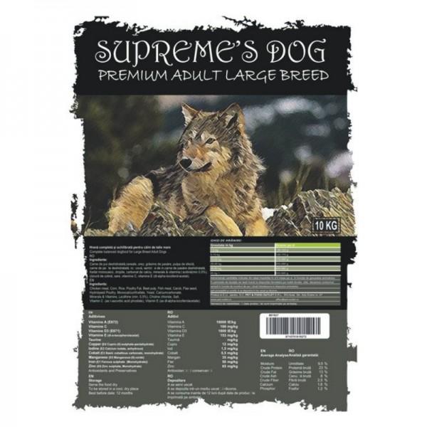 SUPREME'S PREMIUM ADULT MEDIUM/LARGE BREED 10 kg + CADOU CONSERVA BTG CLASSIC 1240 gr