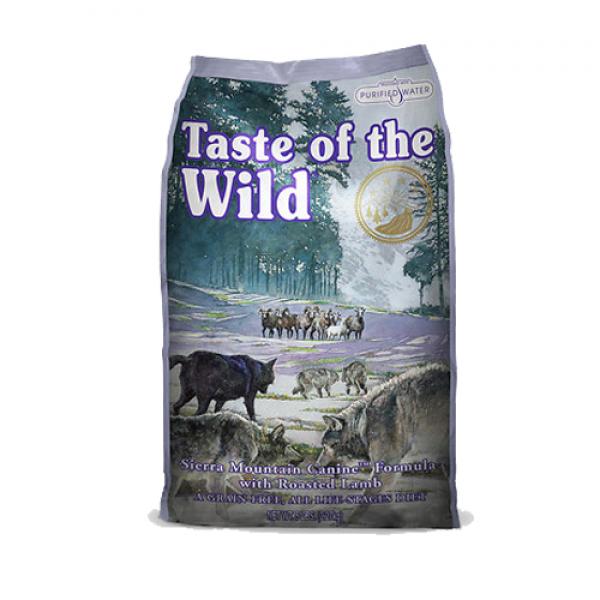 Taste Of The Wild Sierra Mountain 12.2 kg + cadou 1 x ulei somon dr Bute 250 ml