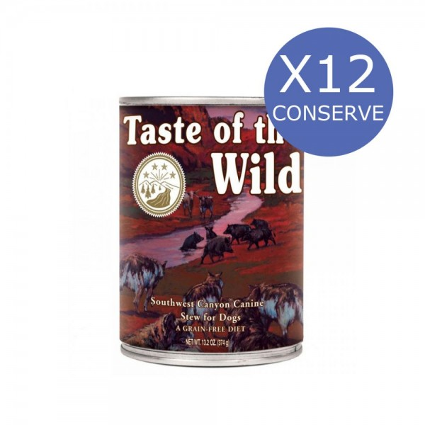 Bax 12 Conserve Taste Of The Wild Southwest Canyon 390 gr.
