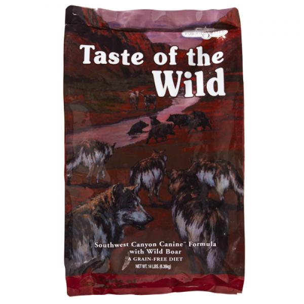 Taste of the Wild - SouthWest Canyon 12.2 kg  + cadou 1 x ulei somon dr Bute 250 ml