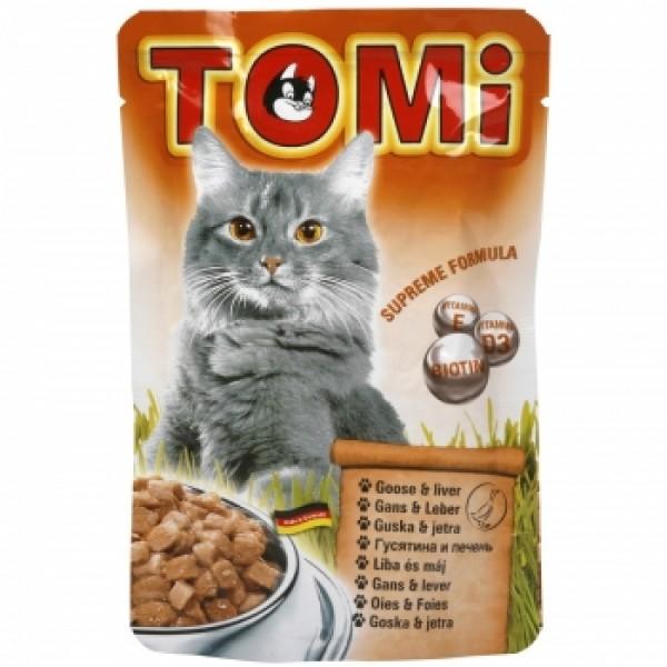 Tomi Cat cu Gasca si Ficat, 20 plicuri x 100 g
