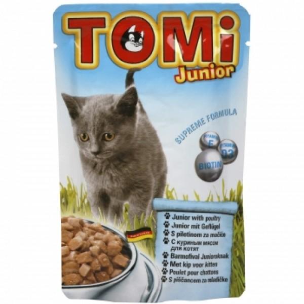 Tomi Cat Junior cu Pui, 20 plicuri x 100 g