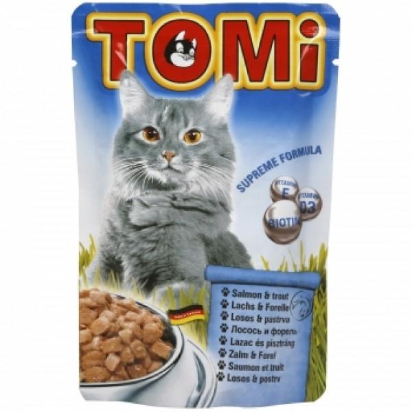 Tomi Cat cu Somon si Pastrav, 20 plicuri x 100 g