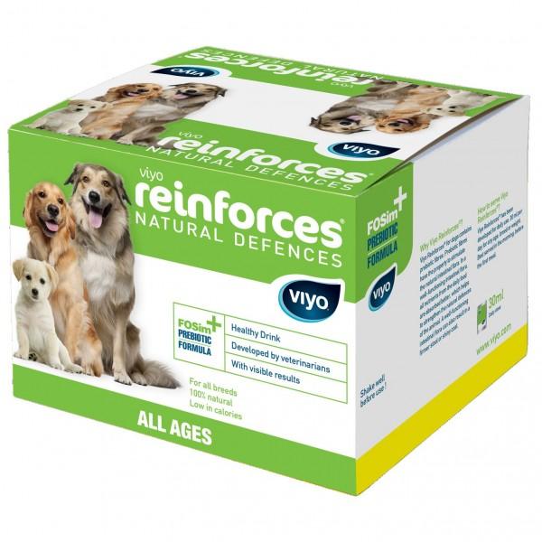 Supliment nutritiv pentru caini, Viyo Reinforces, Toate Varstele, 30 x 30ml