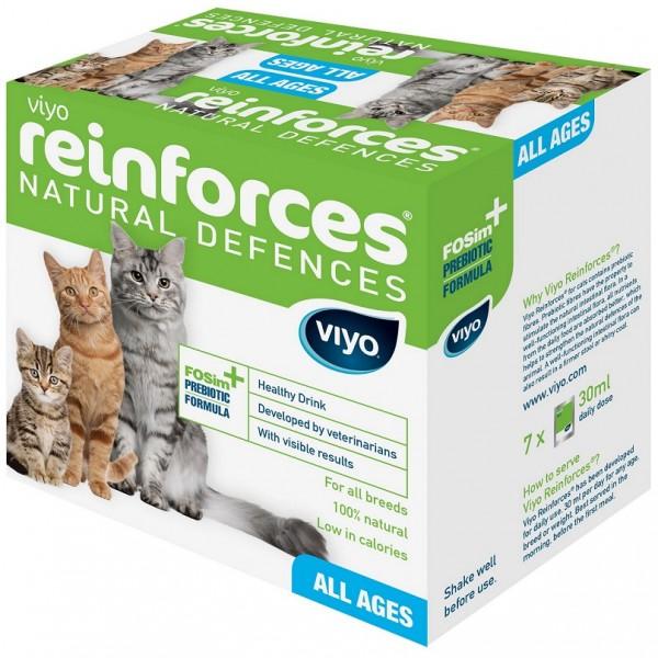 Supliment nutritiv pentru pisici, Viyo Reinforces, Toate Varstele, 7 x 30ml