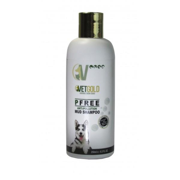 Sampon Vetgold Pfree, pe baza de namol, minerale si alge marine, 250 ml