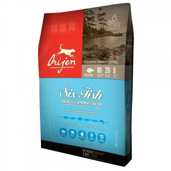 Orijen Dog 6 Fish 11.4 kg + recompense Tail Swingers 100 g