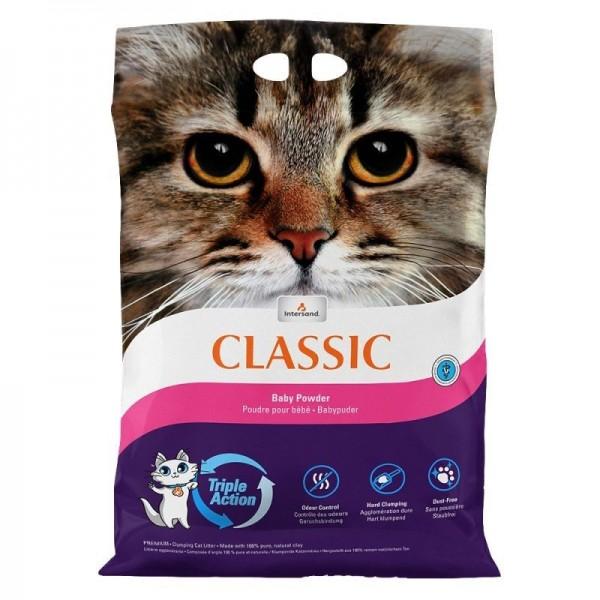 Nisip litiera pisici Intersand Classic, Baby Powder, 7kg