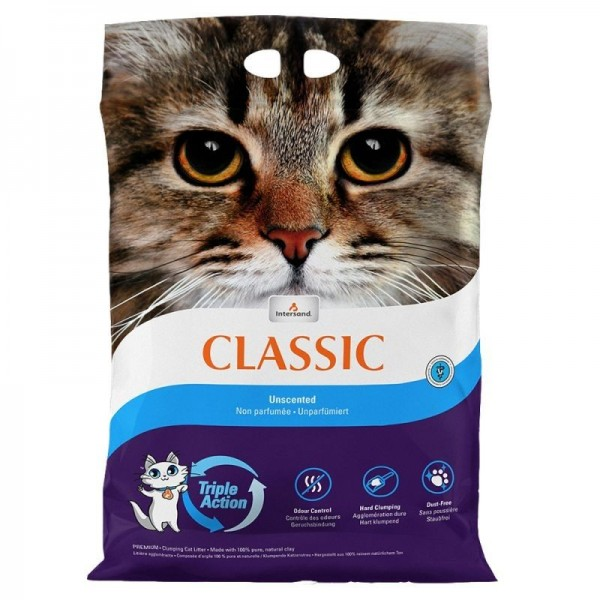 Nisip litiera pisici Intersand Classic, Triple Action, Odor Lock, 7kg