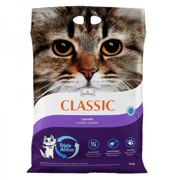 Nisip litiera pisici Intersand Classic, Lavanda, 14kg